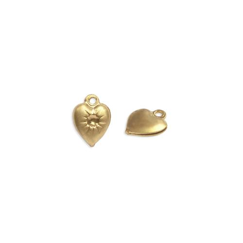 Heart Charm w/stone setting - Item # S2066-1 - Salvadore Tool & Findings, Inc.