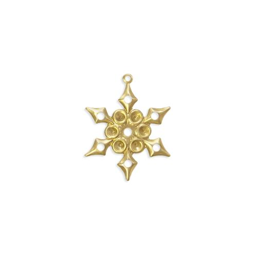 Snowflake w/stone settings - Item # S1025 - Salvadore Tool & Findings, Inc.