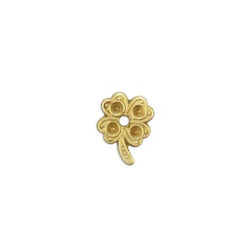 Four Leaf Clover w/stone settings - Item # S1120 - Salvadore Tool & Findings, Inc.