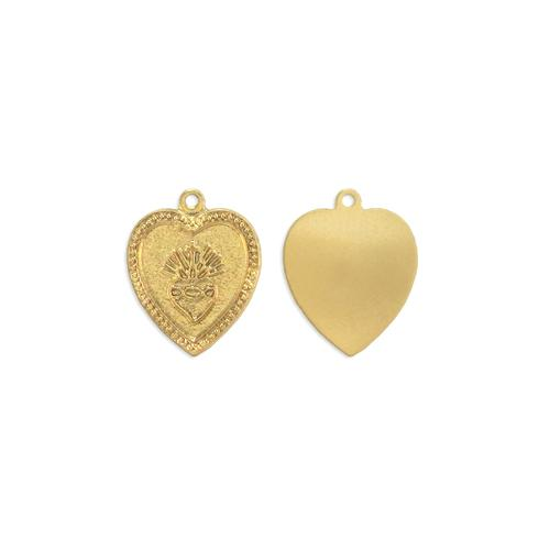 Religious Heart Charm - Item # S2180 - Salvadore Tool & Findings, Inc.