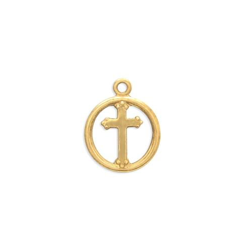 Cross Charm - Item # S2515 - Salvadore Tool & Findings, Inc.