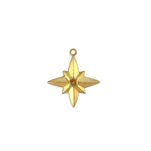 Star w/ stone setting and ring - Item # S2907 - Salvadore Tool & Findings, Inc.