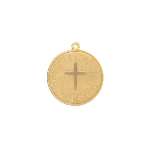 Cross/The Lord is My Shepherd w/ring - Item # S3364 - Salvadore Tool & Findings, Inc.