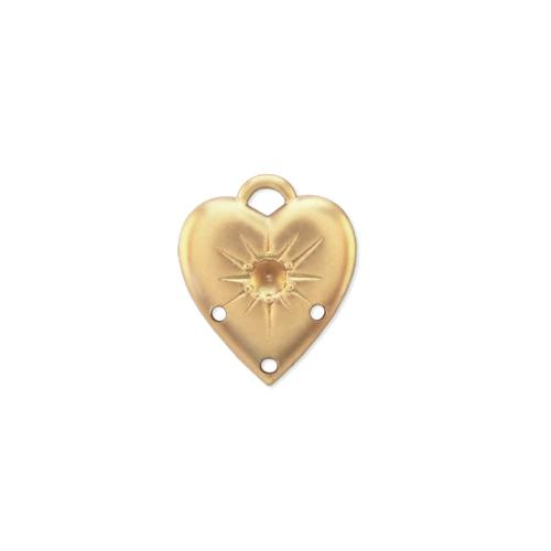 Heart w/ring and stone setting - Item # S341/1 - Salvadore Tool & Findings, Inc.