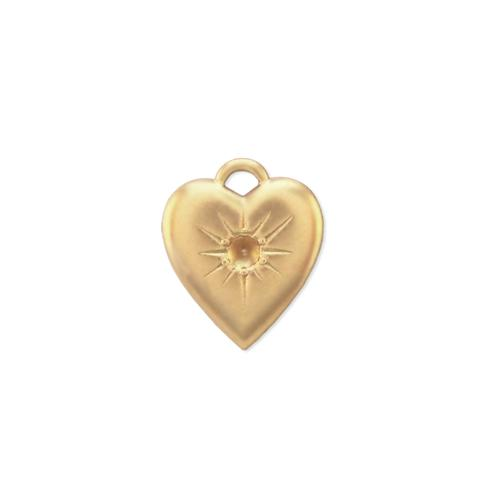 Heart w/stone setting - Item # S342/1 - Salvadore Tool & Findings, Inc.