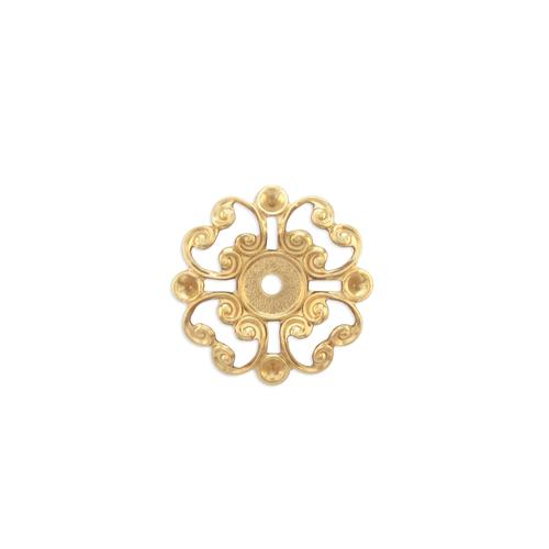 Filigree Multi Stone Setting  - Item # S353 - Salvadore Tool & Findings, Inc.