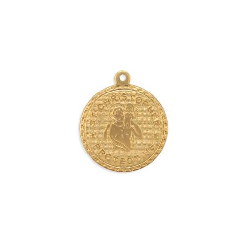 St. Christopher Charm - Item # S3759 - Salvadore Tool & Findings, Inc.