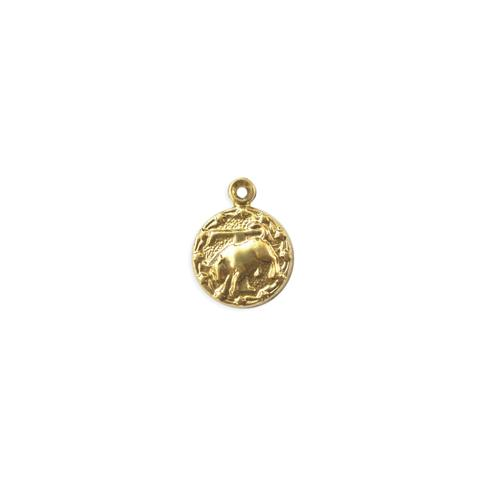 Taurus Charm - Item # S4453 - Salvadore Tool & Findings, Inc.