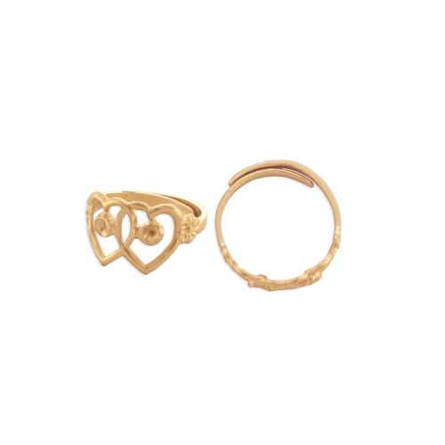 Double Heart Ring w/settings - Item # S59 - Salvadore Tool & Findings, Inc.