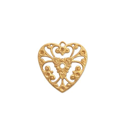 Filigree Heart w/ring and stone settings - Item # S705 - Salvadore Tool & Findings, Inc.