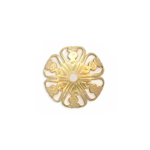 Filigree Floral Bead Cap w/hole - Item # S9027-2 - Salvadore Tool & Findings, Inc.