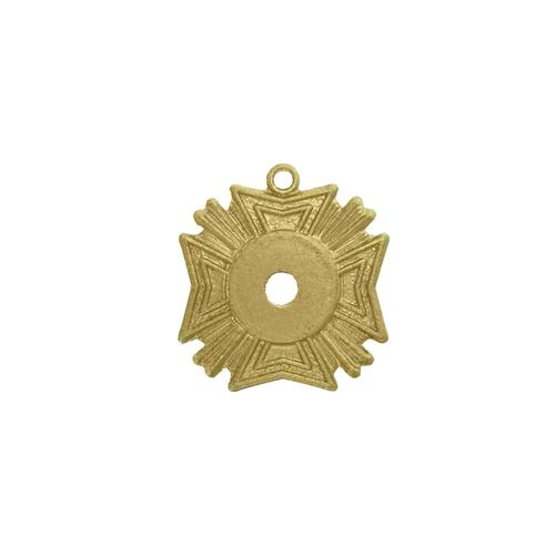 Crests/Medal w/ring & hole - Item # SG263R/H - Salvadore Tool & Findings, Inc.