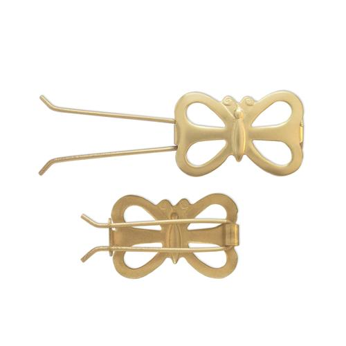 Butterfly Barrette - Item # SG3908W/W - Salvadore Tool & Findings, Inc.