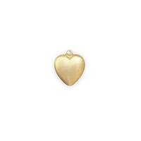 Solid Heart Charm - Item # S5910 - Salvadore Tool & Findings, Inc.