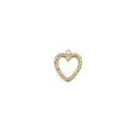 Heart Charm - Item # S6701 - Salvadore Tool & Findings, Inc.