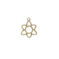 Flower Heart Charm - Item # S7147 - Salvadore Tool & Findings, Inc.