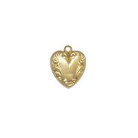 Heart Charm - Item # S7362 - Salvadore Tool & Findings, Inc.