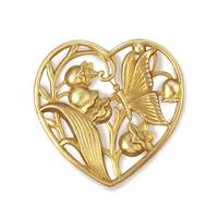 Floral Heart w/Butterfly - Item # FA14300-D - Salvadore Tool & Findings, Inc.