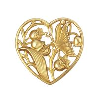 Floral Heart w/Butterfly - Item # FA14300 - Salvadore Tool & Findings, Inc.
