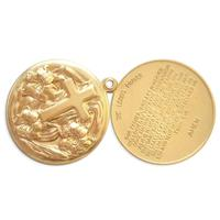 2pc Floral Crucifix/Lords Prayer Locket - Item # S2163 - Salvadore Tool & Findings, Inc.